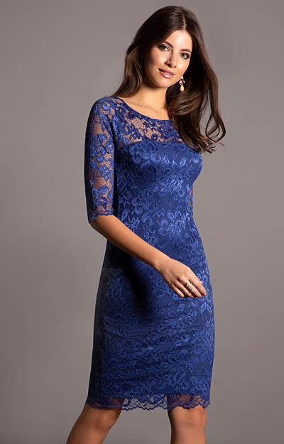 Robe habillée mi-longue Bleu Windsor by Alie Street London
