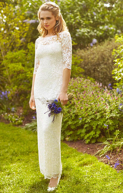 Lila Wedding Gown Long Ivory Evening Dresses Occasion