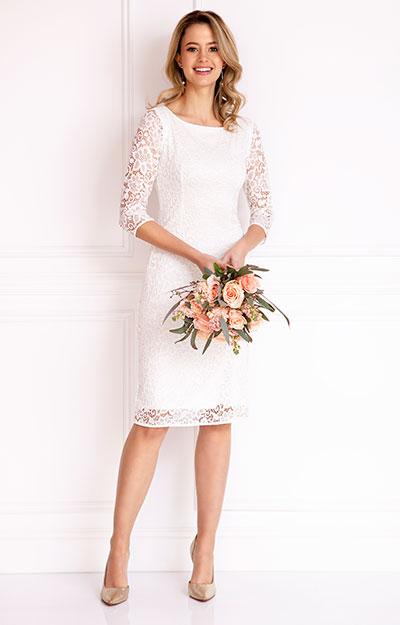Macie shift wedding dress ivory evening dresses for Shift dress for a wedding