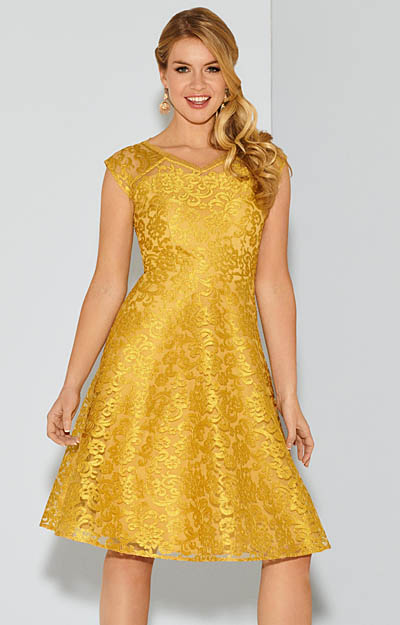 Paris Occasion Dress Short Saffron Gold by Tiffany Rose