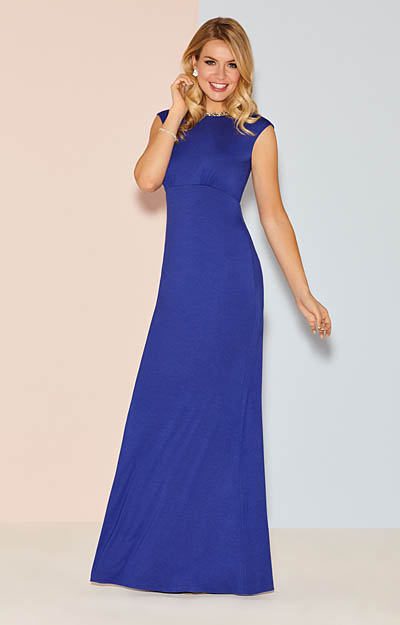 Pippa Evening Gown Long Royal Blue by Alie Street London