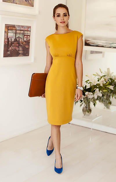 Pippa Shift Day Dress Artisan Gold by Alie Street London