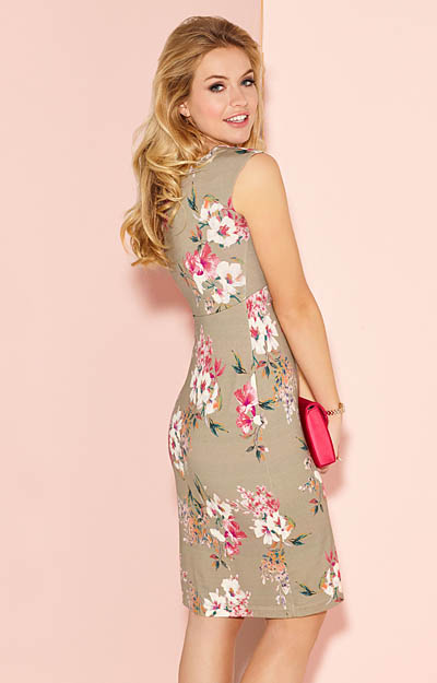fe86eca78b8 ... Pippa Shift Day Dress Floral Olive by Alie Street