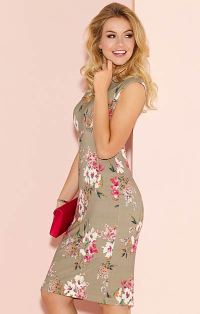 39eabcd141 Pippa Shift Day Dress Floral Olive - Evening Dresses, Occasion Wear ...