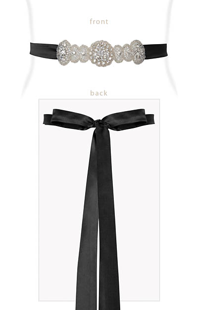 Aurelia Vintage Sash Black by Alie Street London