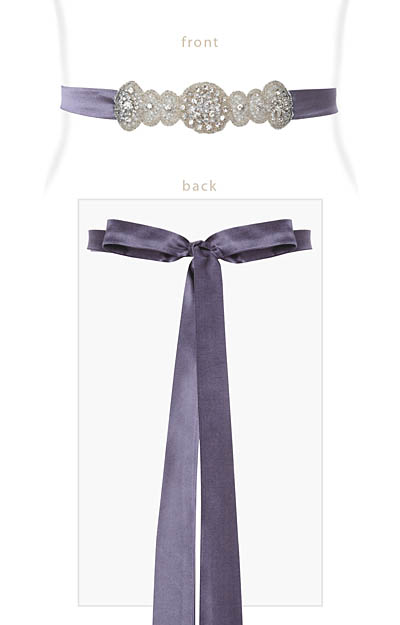 Aurelia Vintage Sash in Grape by Alie Street London
