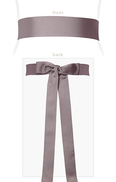 Grosgrain Ribbon Sash (Dusk) by Alie Street London