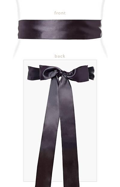 Smooth Satin Sash Slim Graphite by Alie Street London