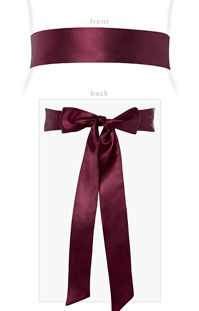 Smooth Satin Sash Mulberry by Tiffany Rose