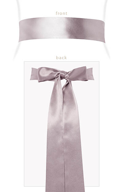 Smooth Satin Sash Long Oyster by Tiffany Rose