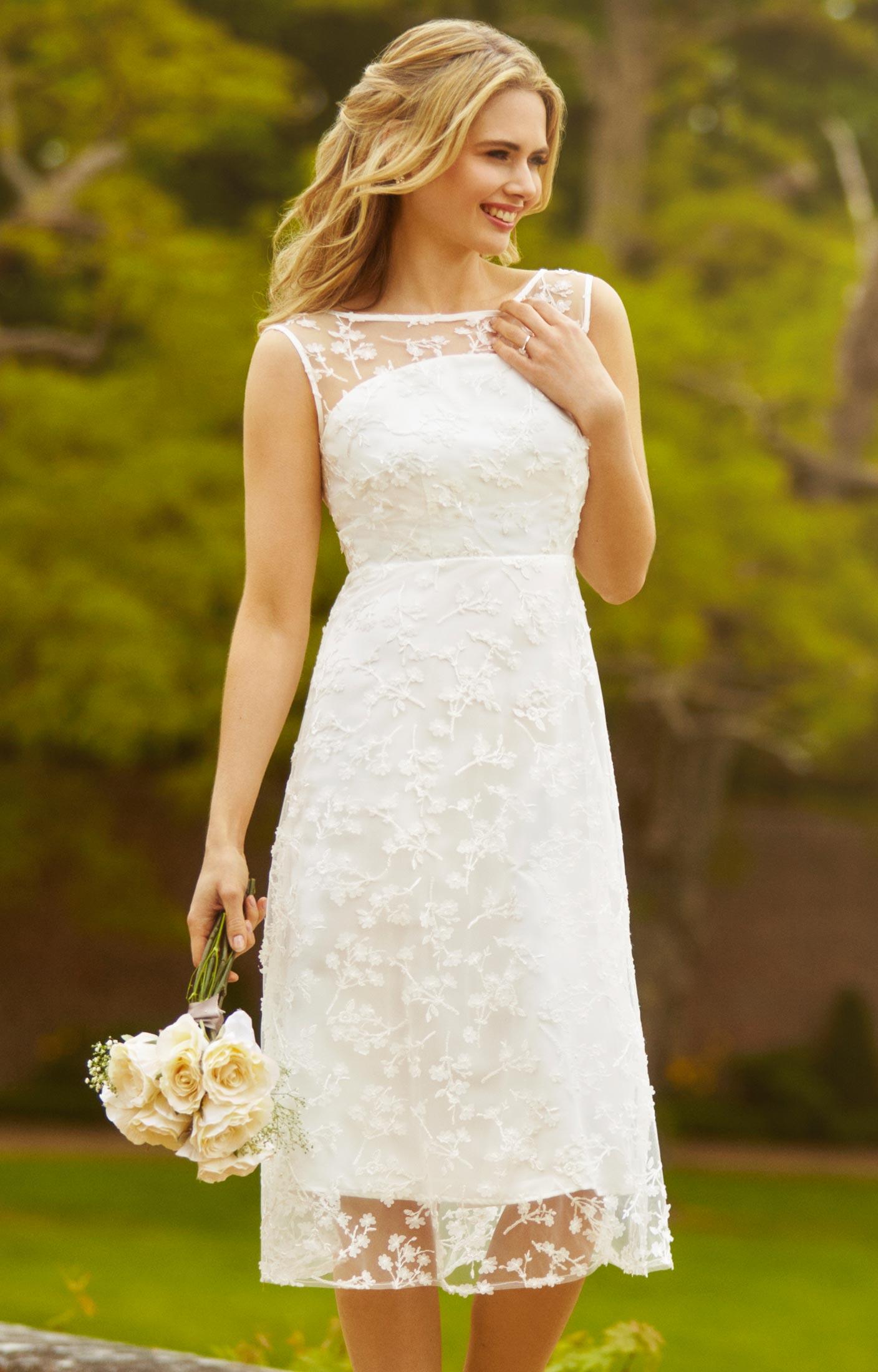 A Line Midi Wedding Guest Dress