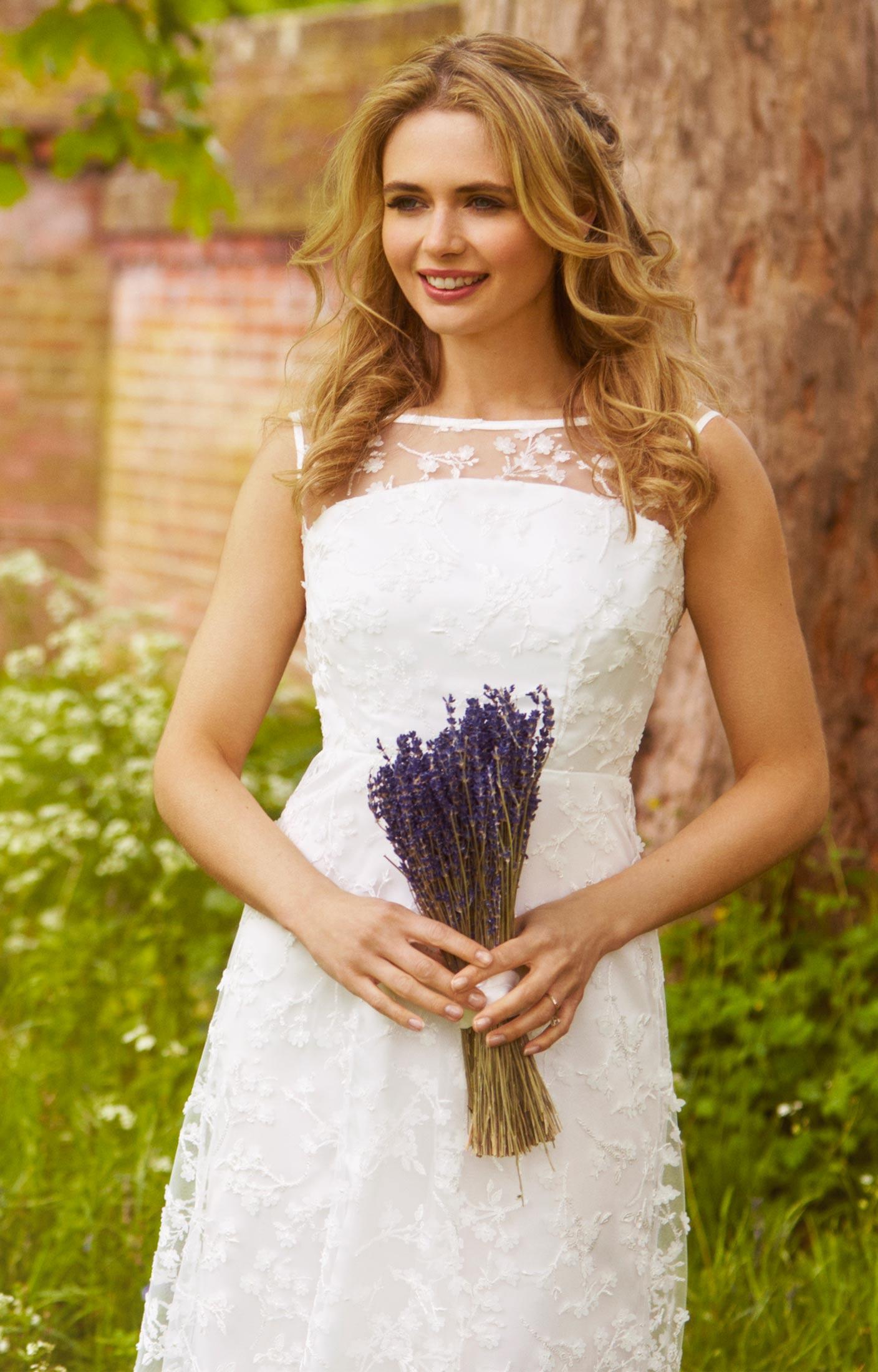 Azalia Midi Wedding Gown Ivory - Evening Dresses, Occasion Wear and ...