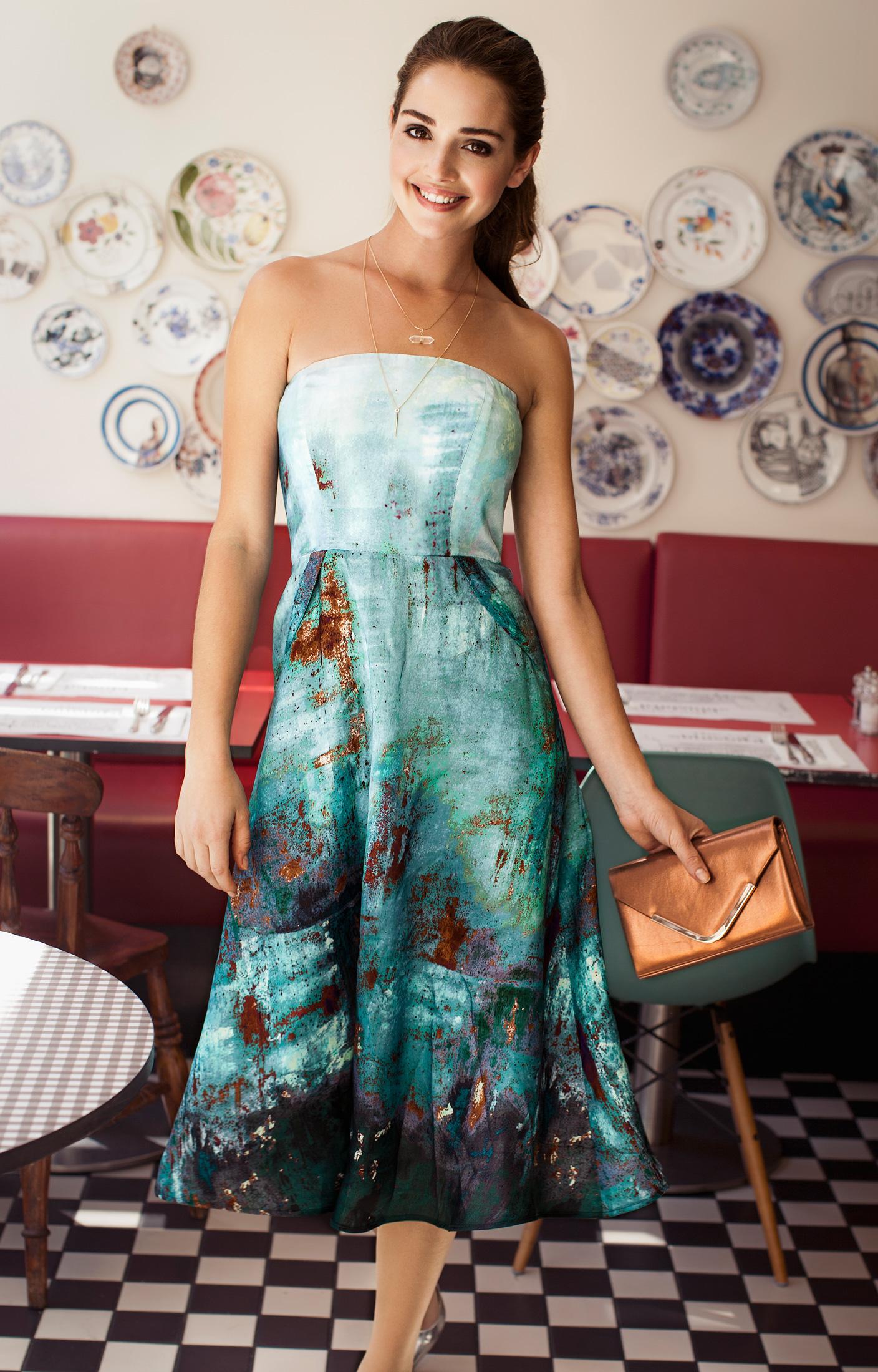 ae720861ddf Alissa Midi Occasion Gown Aquatic Ombre - Evening Dresses