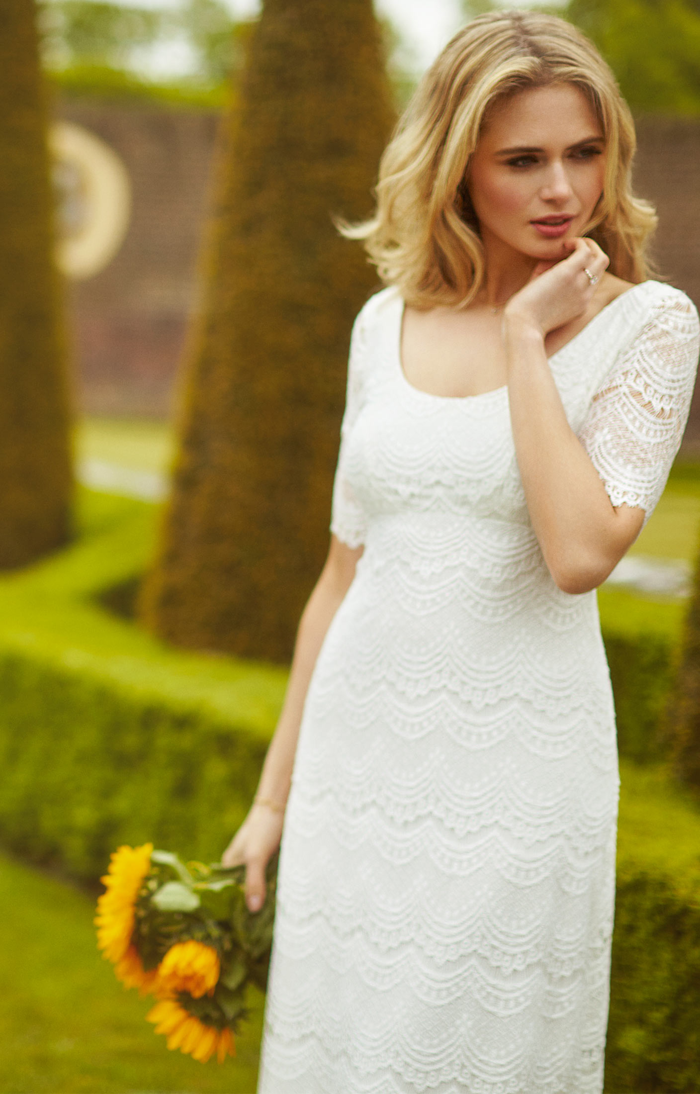 b585f71954c6c Claudia Lace Wedding Gown Bright Ivory - Evening Dresses, Occasion Wear and  Wedding Dresses by Alie Street.