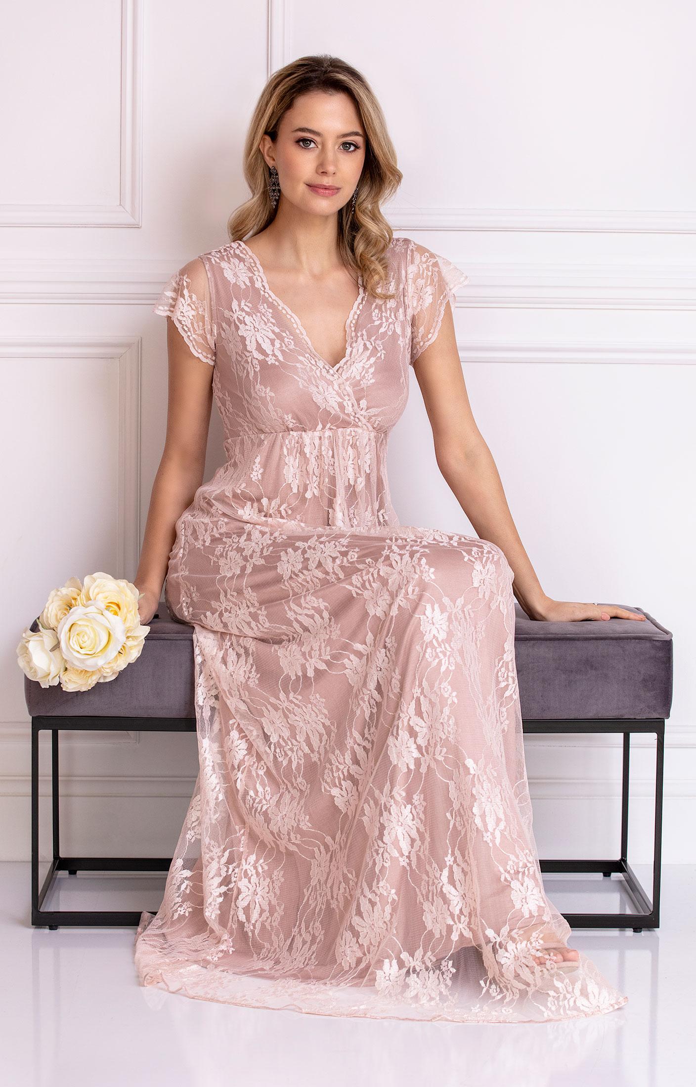 92340cd4a09 Evangeline Evening Gown (Blush) - Evening Dresses