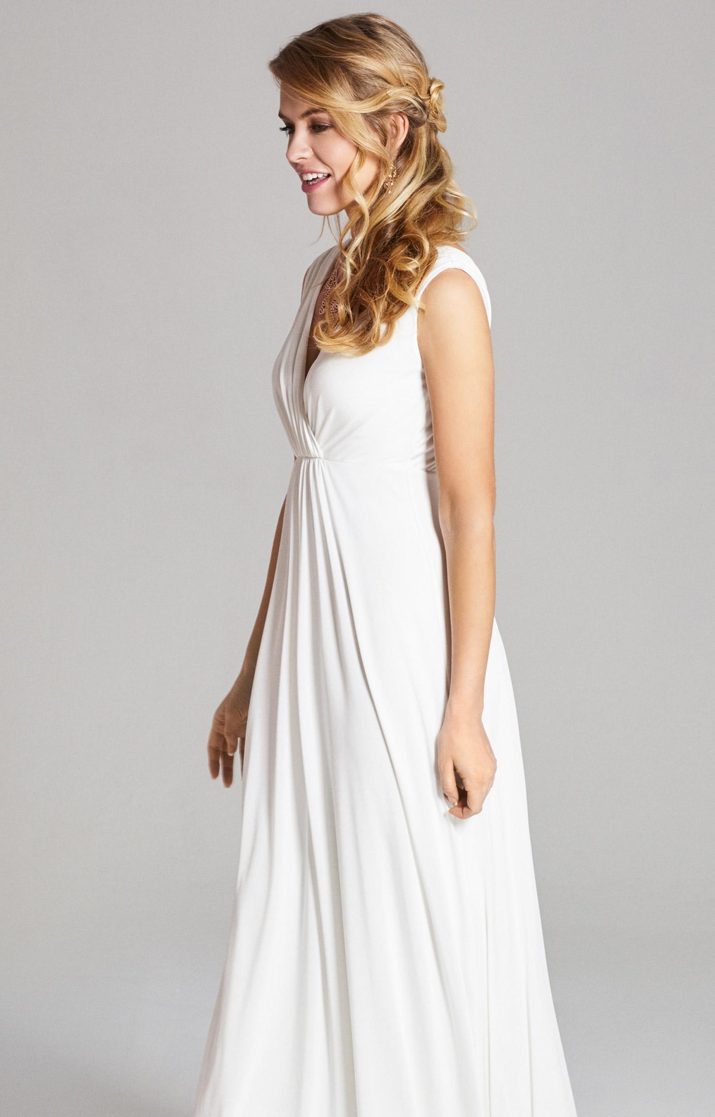Kleid Havana lang in Elfenbein - Hochzeitskleider, Abendgarderobe ...