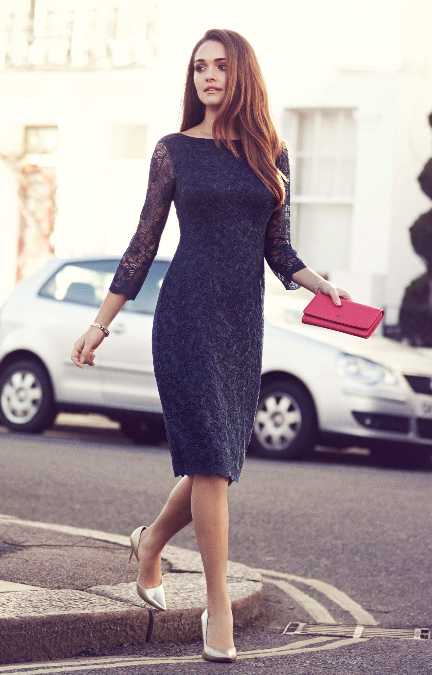 Katherine Lace Occasion Dress (Midnight) - Evening Dresses, Occasion ...