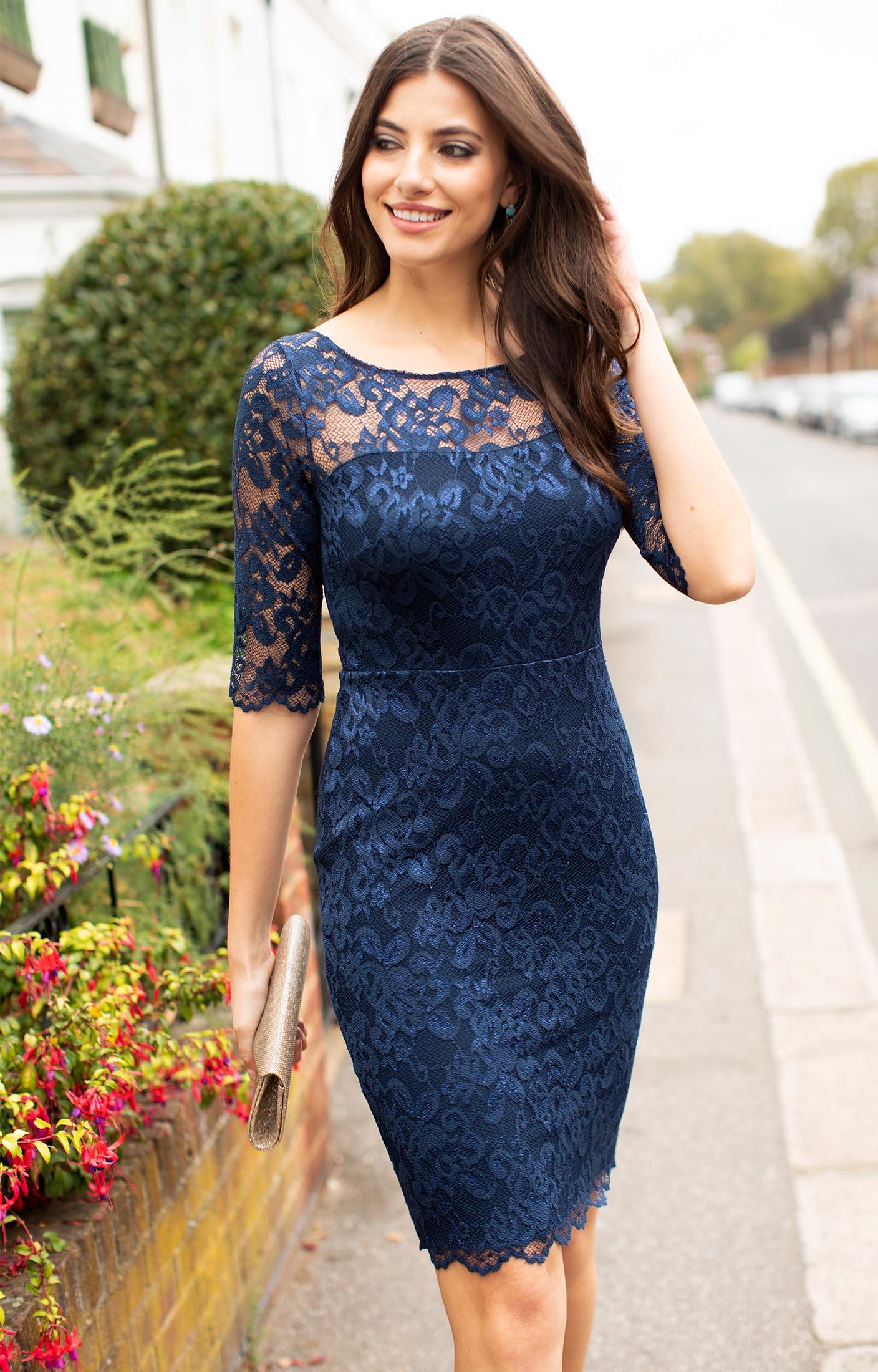 Lila Lace Dress Navy by Alie Street