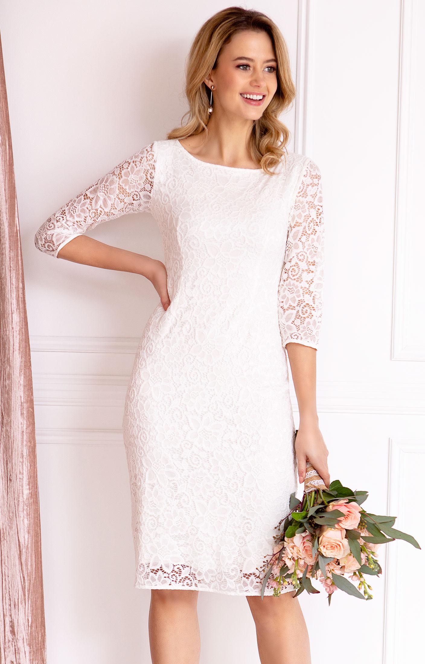 Macie Shift Wedding Dress Ivory By Alie Street